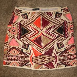 Top shop mini printed skirt